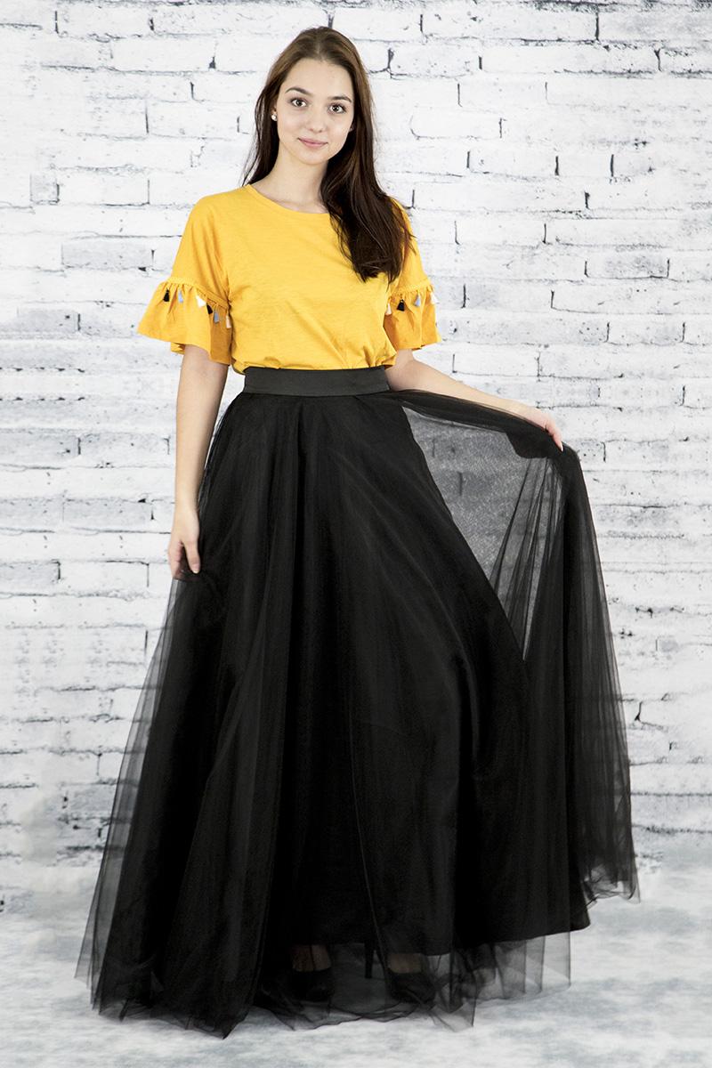 7a925d1d885d Dlhá kruhová tylová sukňa - Čierna - Peter a Lucia